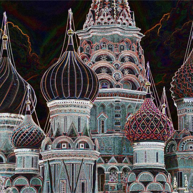 """The domes of St.Basil's Church"" stock image"