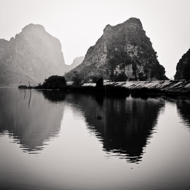 """kenh ga landscape - vietnam"" stock image"