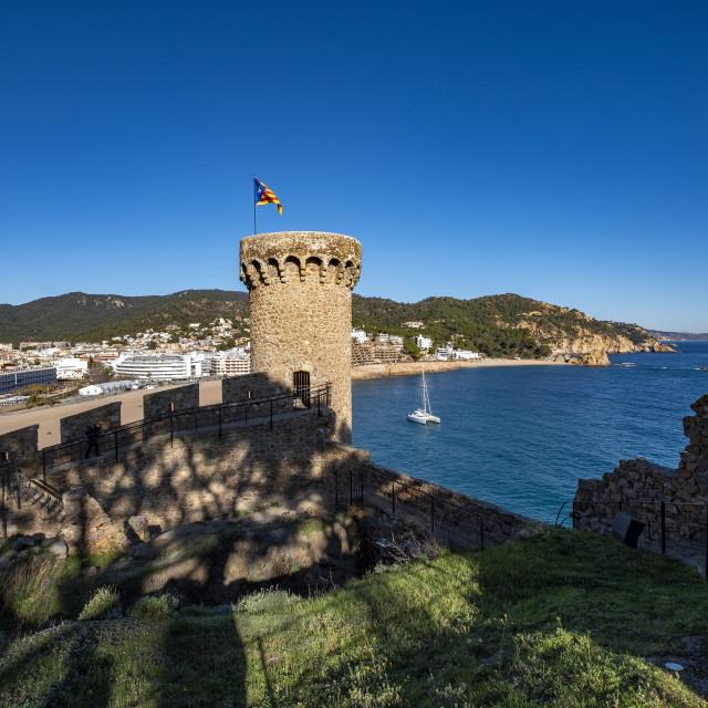 """Tossa de Mar in Costa Brava in Catalonia Spain"" stock image"