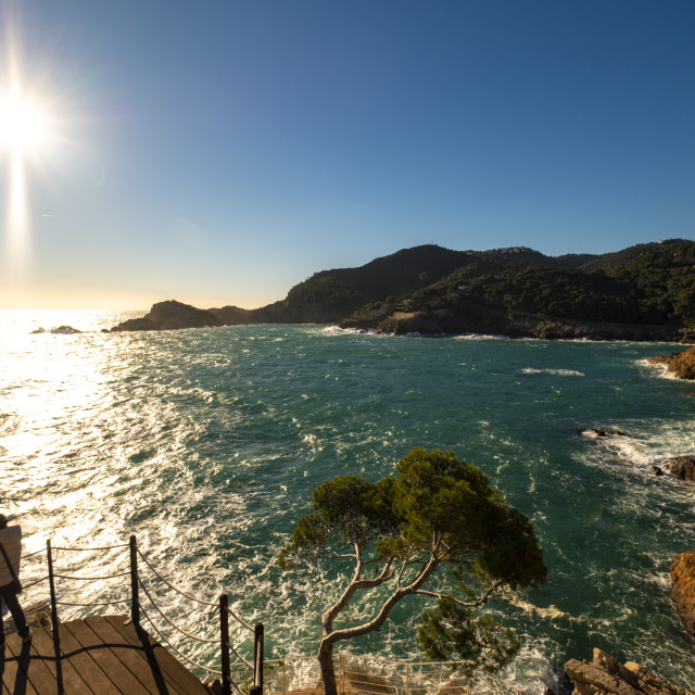 """""""Landscapes of the Costa Brava from the Camino de Ronda"""" stock image"""