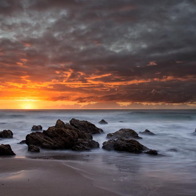 """""""Moody sunrise"""" stock image"""