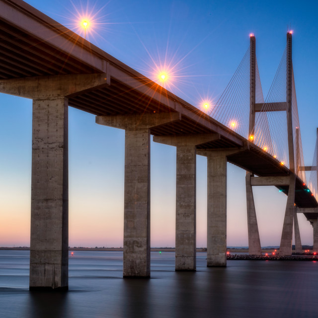 """Sidney Lanier Bridge"" stock image"
