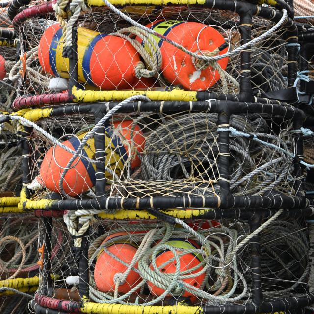 """""""Crab Pots Ilwaco WA"""" stock image"""