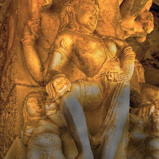 """Ardhanarishwara Sculpture, Aihole"" stock image"