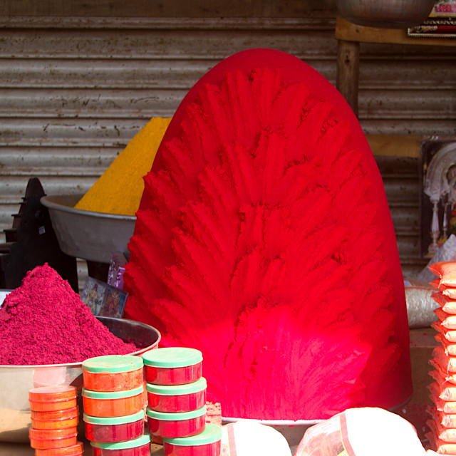 """Heaps of Vermilion, Tulajapur"" stock image"