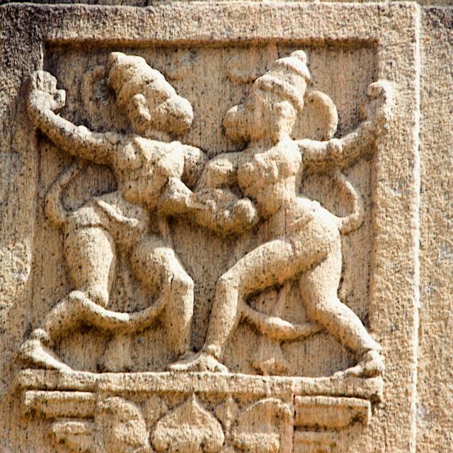"""Pillar Sculpture, Melukote"" stock image"