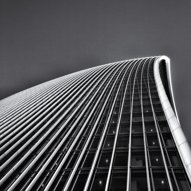 """""""20 Fenchurch street is the newest skyscraper to tower over central london. Its been nicknamed the walkie talkie building. LONDON"""" stock image"""
