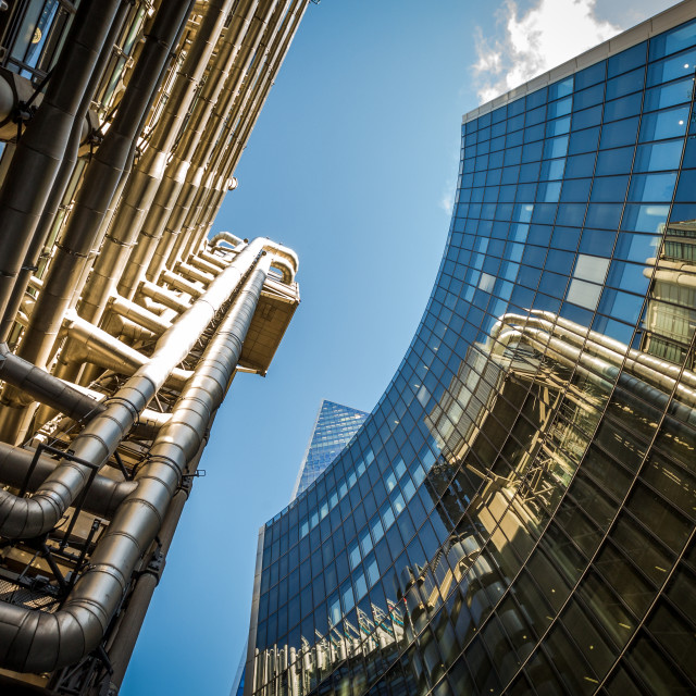 """""""The Lloyd's Building and The Willis Building."""" stock image"""