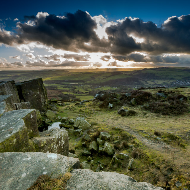 """""""Views of the Peak District, Derbyshire. England"""" stock image"""