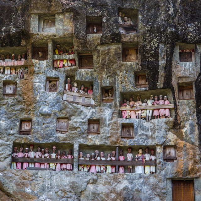 """""""Ancient graves in Lemo, Sulawesi, Indonesia"""" stock image"""