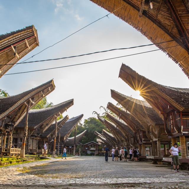 """""""Ke'te Kesu in Tana Toraja"""" stock image"""
