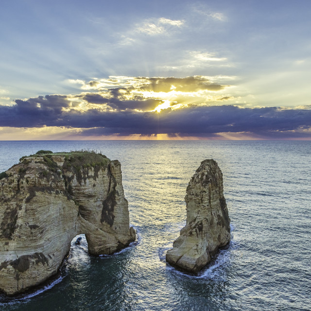 """""""Sunset in Beirut"""" stock image"""