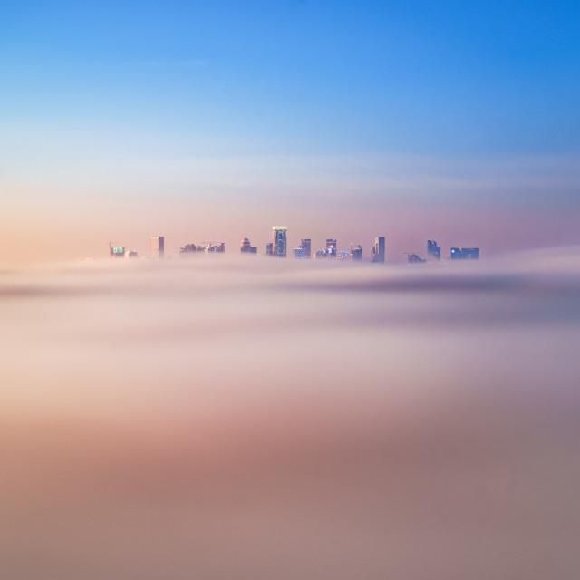 """Foggy Doha"" stock image"