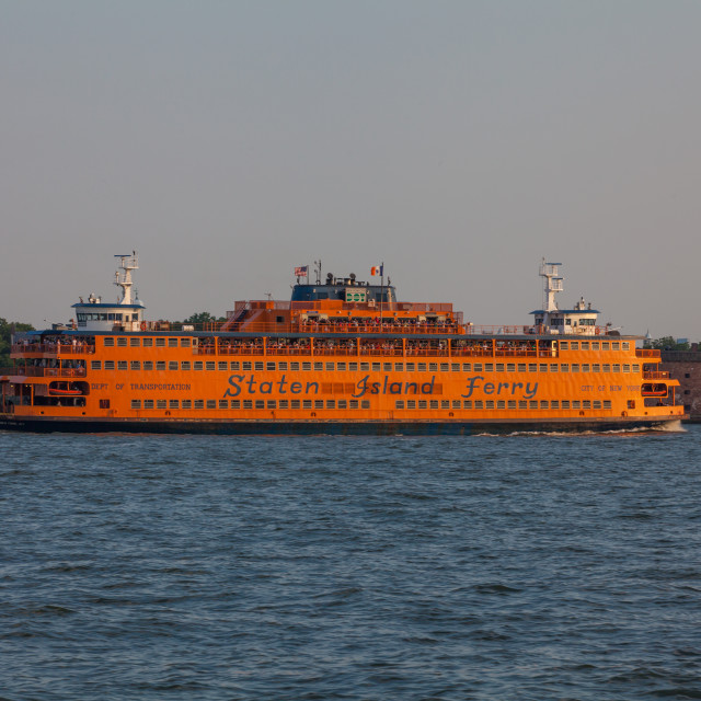 """""""Staten Island Ferry in the New York harbor."""" stock image"""