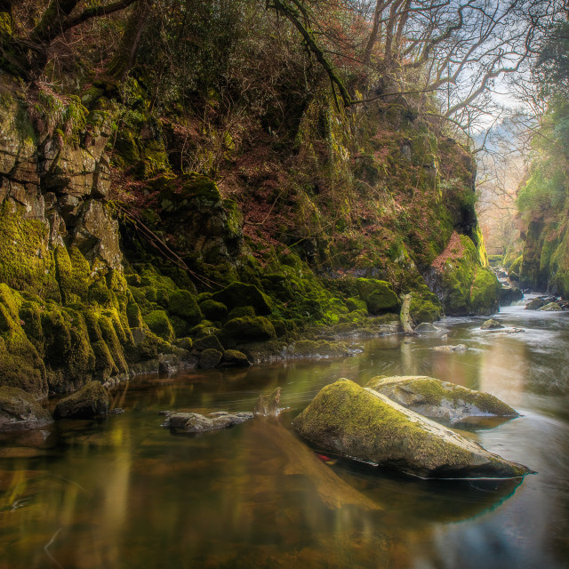 """Fairy Glen (Wide Angle)"" stock image"