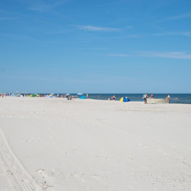 """defocused people on the beach, background"" stock image"