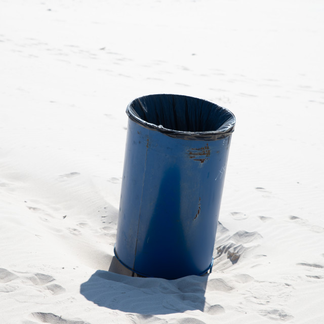 """""""Dumpster on the beach"""" stock image"""