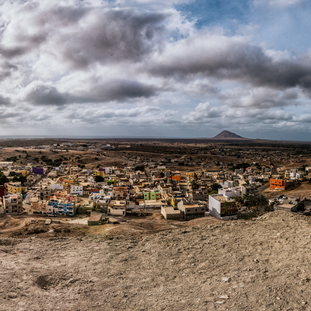 """Panoramic of Sal, Cape Verde"" stock image"