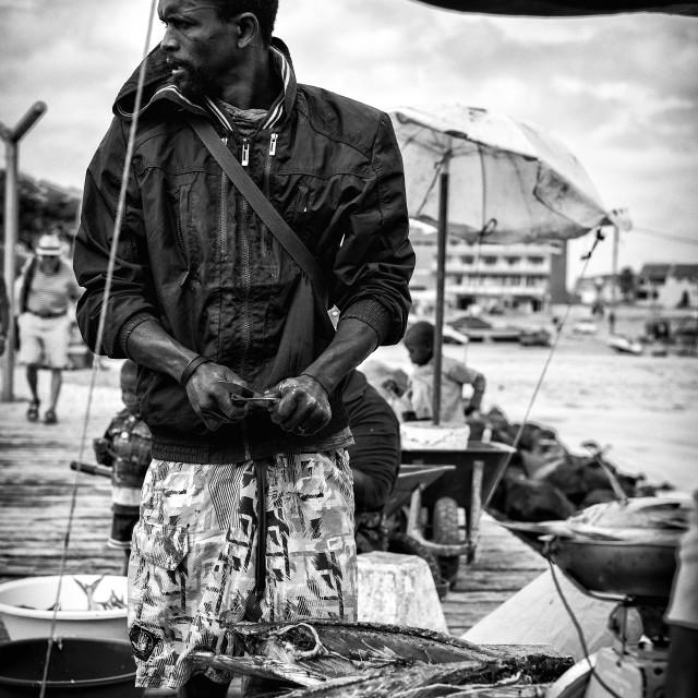 """Fisherman"" stock image"