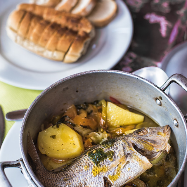 """Whole Fish Stew"" stock image"
