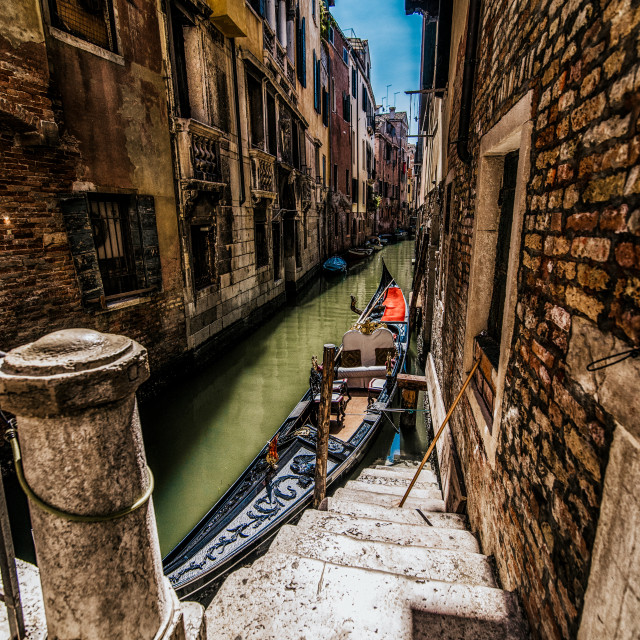 """Gondola in the backstreets"" stock image"