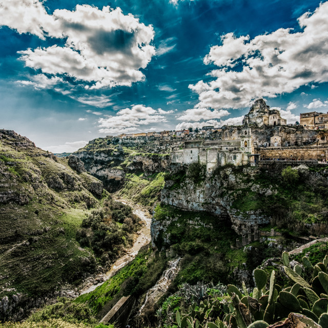 """Valley Of Matera"" stock image"
