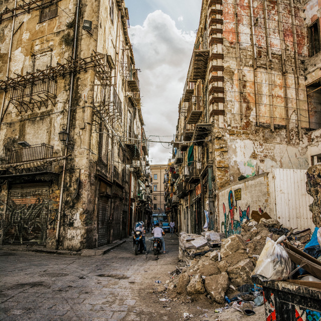 """Backstreets of Palermo"" stock image"
