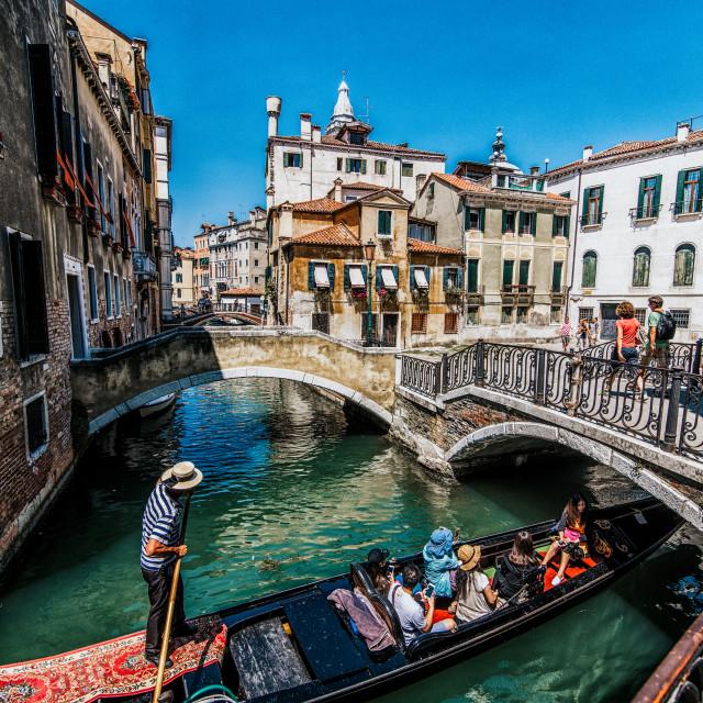 """Gondlier Venice"" stock image"