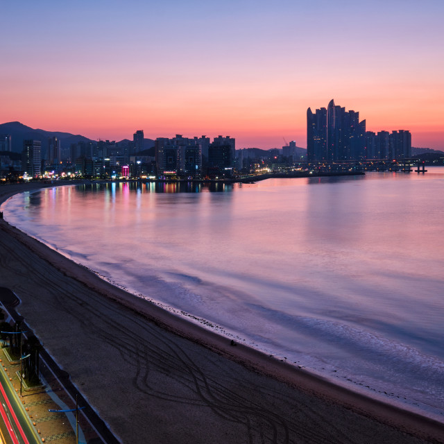 """Gwangalli Beach in Busan, South Korea"" stock image"