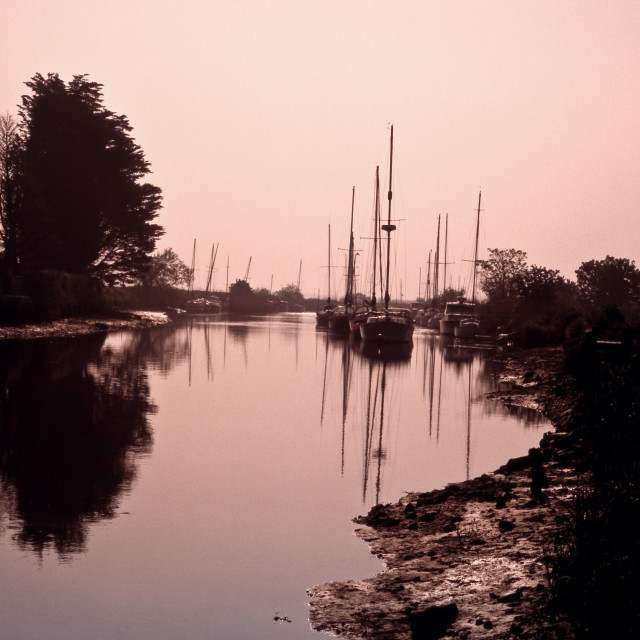 """Morning on the Frome, Wareham"" stock image"