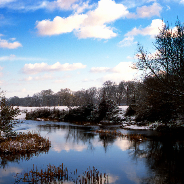 """Stour in Winter"" stock image"