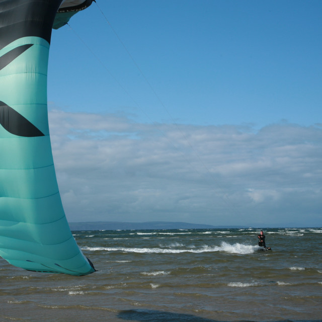 """""""Windsurfing in the sea"""" stock image"""