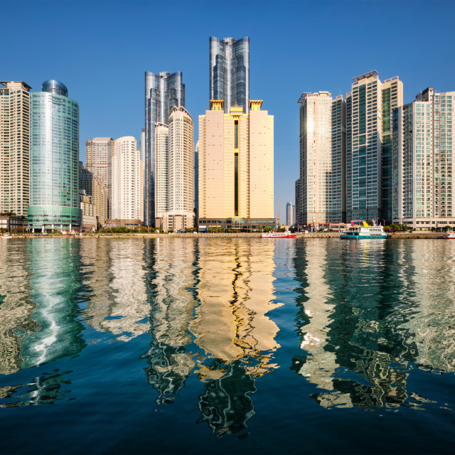 """Marine city skyscrapers in Busan, South Korea"" stock image"