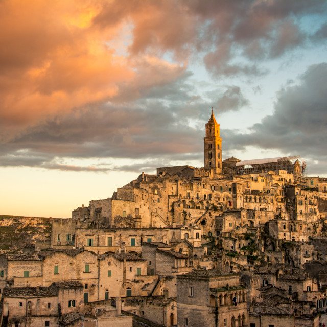"""Sunset over Matera"" stock image"