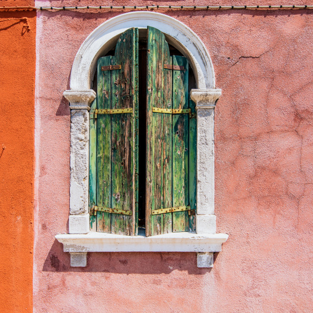 """Colourful venitian Window"" stock image"