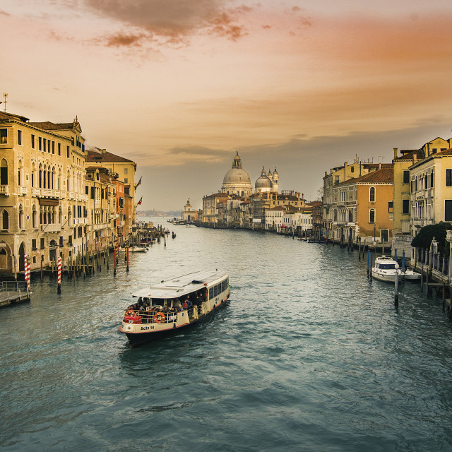 """Sunset over Venice"" stock image"