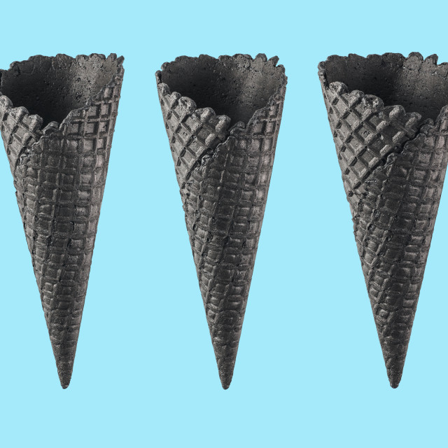 """perspectives of wafer sugar cone"" stock image"
