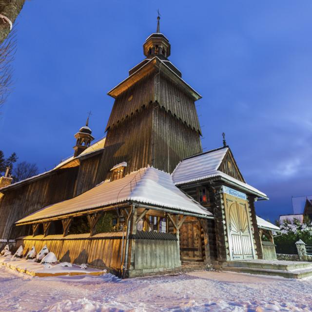 """""""Church of St. John the Evangelist in Zakopane"""" stock image"""