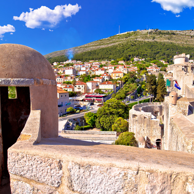 """""""View from Dubrovnik city walls"""" stock image"""