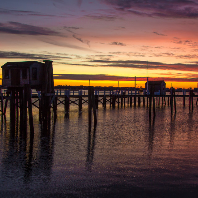 """Sunset at Newport, Rhode Island"" stock image"