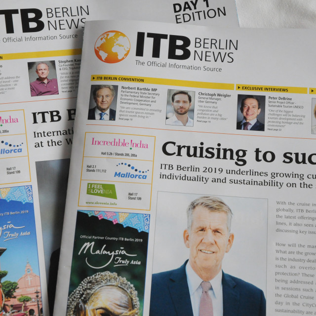 """""""ITNB BERLIN NEWS IN ENGISH MAGASINE"""" stock image"""