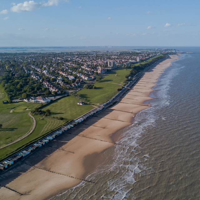 """""""Frinton on sea from the air"""" stock image"""