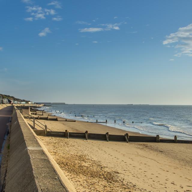 """Frinton Beach"" stock image"