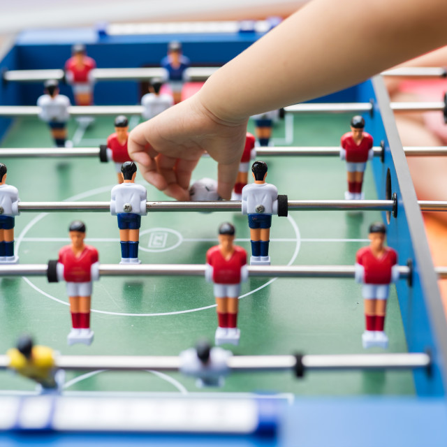 """Soccer football Game Playing on Table"" stock image"
