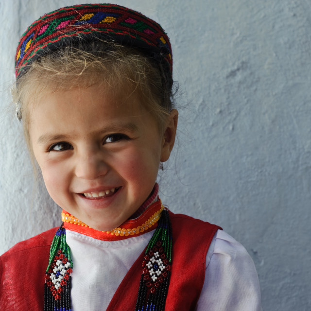 """Girl from the Wakhan valley ( Tajikistan)"" stock image"