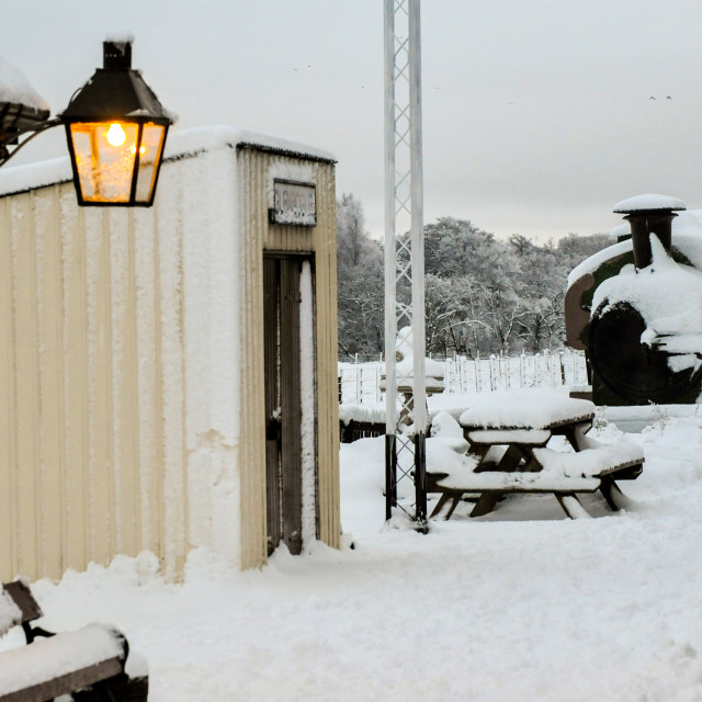 """""""Snowy Station"""" stock image"""
