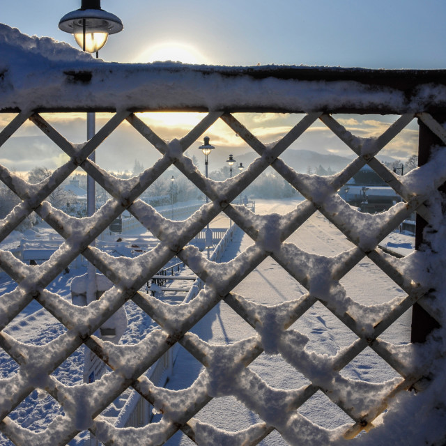 """""""Snowy Fence"""" stock image"""