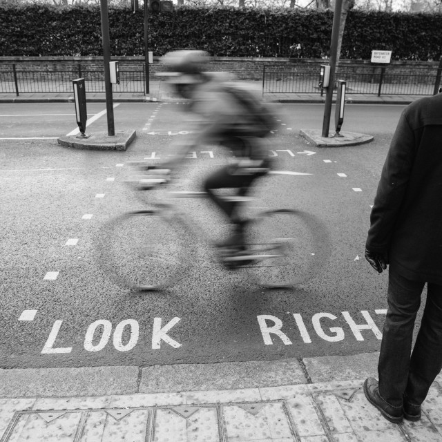 """Look right"" stock image"