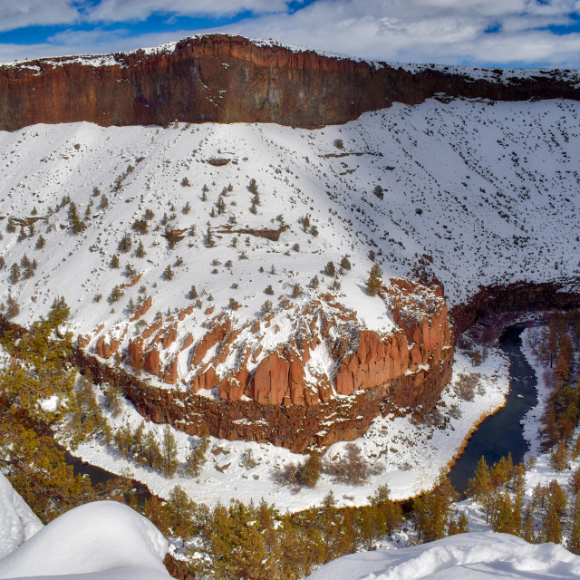 """""""Crooked River Gorge in Winter"""" stock image"""