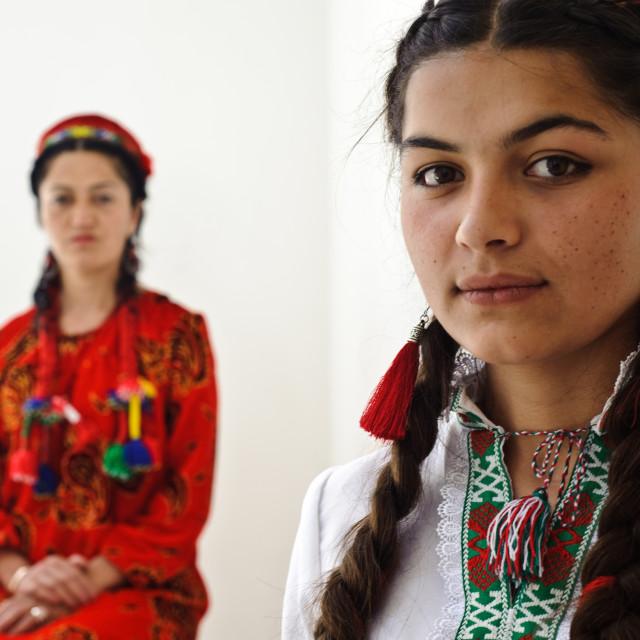 """Pamiri women ( Tajikistan)"" stock image"